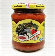 Лучшие рецепты Баклажаны нарезанные кружочками в томатном соусе с аджикой 440мл