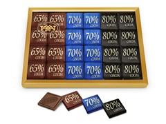 Набор шоколада Rakhat 65%, 70%, 80% 128г
